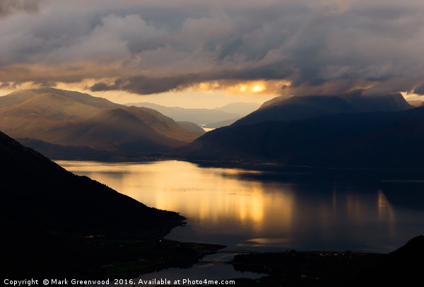 Ardgour Sunset Canvas print by Mark Greenwood