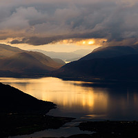 Buy canvas prints of Ardgour Sunset by Mark Greenwood