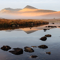 Buy canvas prints of Sunrise over the Black Mount by Mark Greenwood