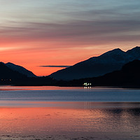 Buy canvas prints of Sunset at Loch Leven by Mark Greenwood