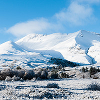 Buy canvas prints of Beinn Eighe in the Snow by Mark Greenwood