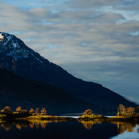 Buy canvas prints of Eilean Munde and Beinn a' Bheithir by Mark Greenwood