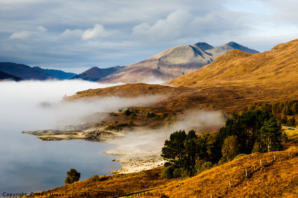 Loch Cluanie Canvas Print by Mark Greenwood