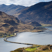 Buy canvas prints of Loch Duich Causeway by Mark Greenwood