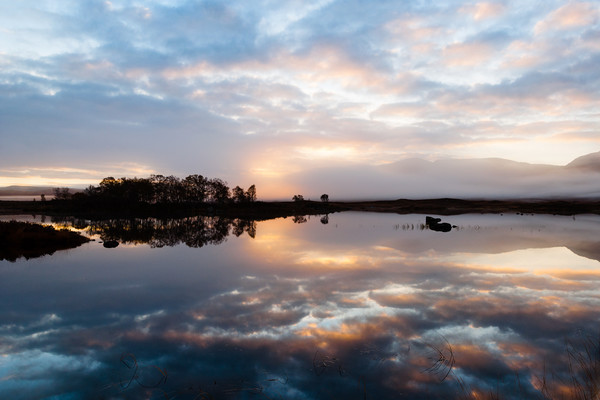 Sunrise over Loch Ba, Rannoch Moor, Scotland Canvas print by Mark Greenwood