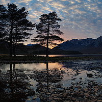 Buy canvas prints of Sunset at Loch Clair by Mark Greenwood
