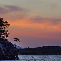 Buy canvas prints of Sunset at Loch Maree by Mark Greenwood