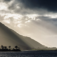 Buy canvas prints of Rays On Eilean Munde by Mark Greenwood