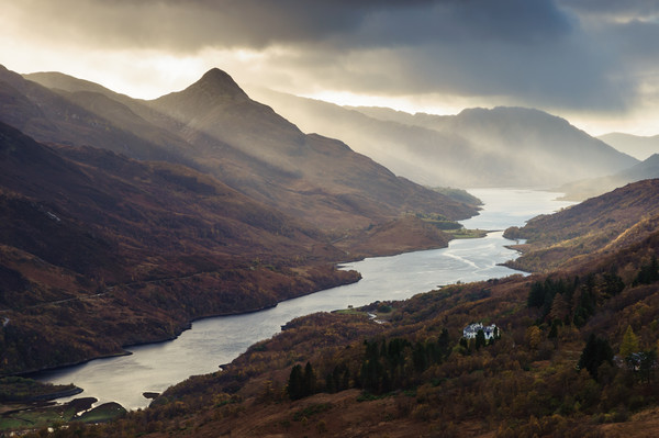 Kinlochleven, Mamore Lodge, and The Pap of Glencoe Canvas print by Mark Greenwood