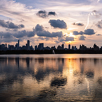 Buy canvas prints of Manhattan Reflections by Mark Greenwood