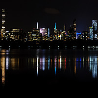 Buy canvas prints of Manhattan By Night by Mark Greenwood