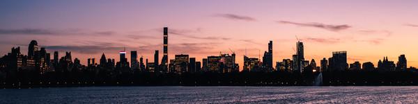 Manhattan Sunset Framed Mounted Print by Mark Greenwood