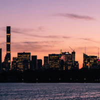 Buy canvas prints of Manhattan Sunset by Mark Greenwood
