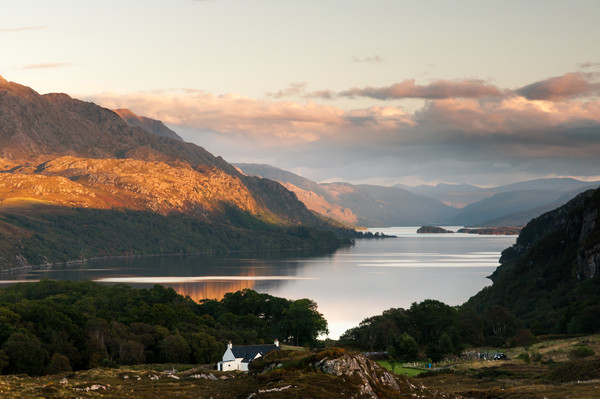 Loch Maree from Poolewe Canvas print by Mark Greenwood