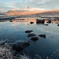 Buy canvas prints of Frozen Black Mount by Mark Greenwood