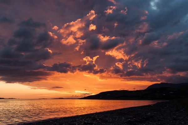 Loch Broom Sunset Canvas print by Mark Greenwood