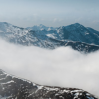 Buy canvas prints of North Kintail Ridge by Mark Greenwood