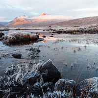 Buy canvas prints of Icy Black Mount by Mark Greenwood