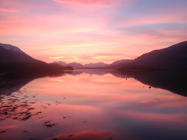 Sunset From Ballachulish Canvas print by Mark Greenwood