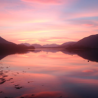 Buy canvas prints of Sunset From Ballachulish by Mark Greenwood