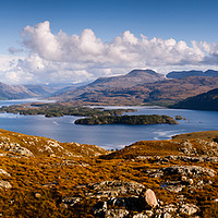 Buy canvas prints of Slioch and Loch Maree by Mark Greenwood