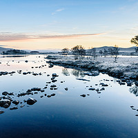 Buy canvas prints of Icy Sunrise at Loch Ba by Mark Greenwood