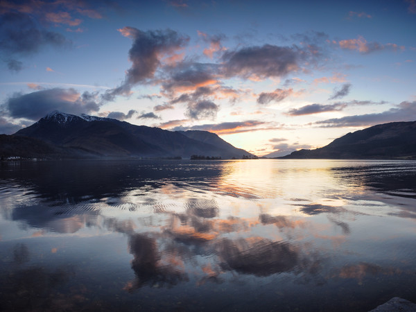 Ballachulish Sunset Canvas print by Mark Greenwood