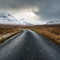 Buy canvas prints of The Road To Glen Etive by Mark Greenwood
