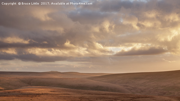 The view south from Dinger Tor, Dartmoor Canvas print by Bruce Little