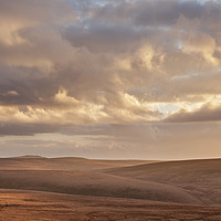Buy canvas prints of The view south from Dinger Tor, Dartmoor by Bruce Little
