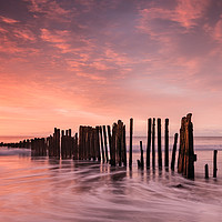 Buy canvas prints of Old Groyne at Dawlish Warren by Bruce Little