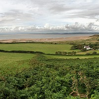 Buy canvas prints of Panoramic Gower by Brian The Destroyer