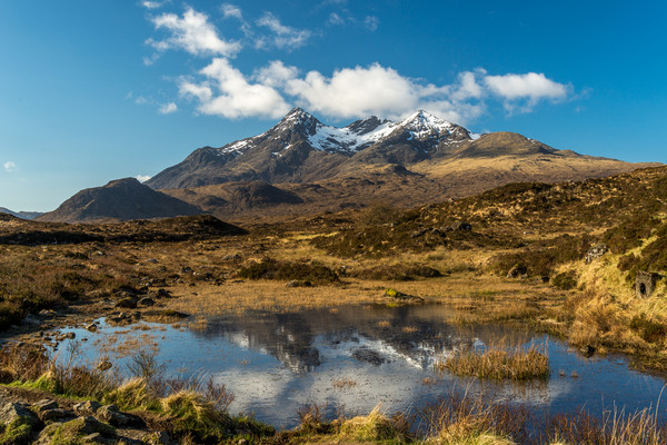 Mountain Range on Isle Of Skye Canvas print by Tony Bishop