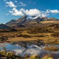 Buy canvas prints of Mountain Range on Isle Of Skye by Tony Bishop