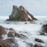 Buy canvas prints of Bow Fiddle Rock by Tony Bishop