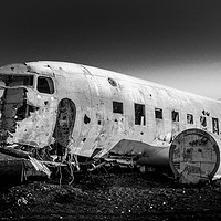Buy canvas prints of Crashed Plane Iceland by Tony Bishop