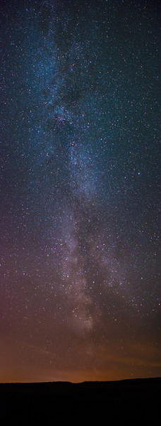 The Milky Way from Northumberland Canvas print by Robin Purser