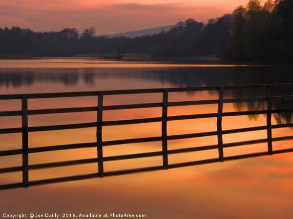Sunset over Balgavies Loch Forfar Canvas print by Joe Dailly