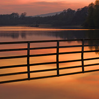 Buy canvas prints of Sunset over Balgavies Loch Forfar by Joe Dailly