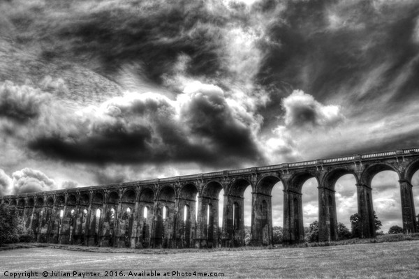 Ouse Valley Viaduct Framed Print by Julian Paynter