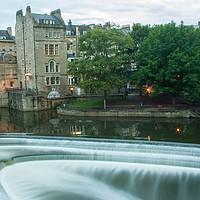 Buy canvas prints of Pulteney Weir, Bath by Julian Paynter
