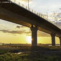Buy canvas prints of Runcorn bridges by Kevin Elias