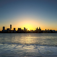 Buy canvas prints of LIVERPOOL CITYSCAPE by Kevin Elias