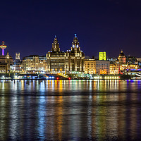 Buy canvas prints of LIVERPOOL WATERFRONT by Kevin Elias