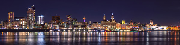 LIVERPOOL WATERFRONT Framed Mounted Print by Kevin Elias
