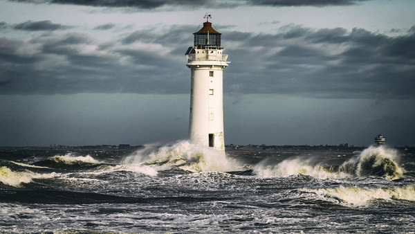 NEW BRIGHTON LIGHTHOUSE Canvas print by Kevin Elias