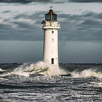 Buy canvas prints of NEW BRIGHTON LIGHTHOUSE by Kevin Elias