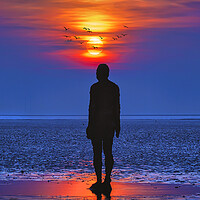Buy canvas prints of Iron man sunset by Kevin Elias