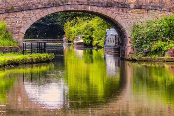 Canal reflections Framed Mounted Print by Kevin Elias