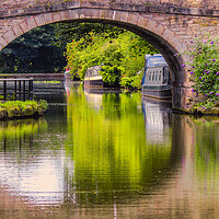 Buy canvas prints of Canal reflections by Kevin Elias